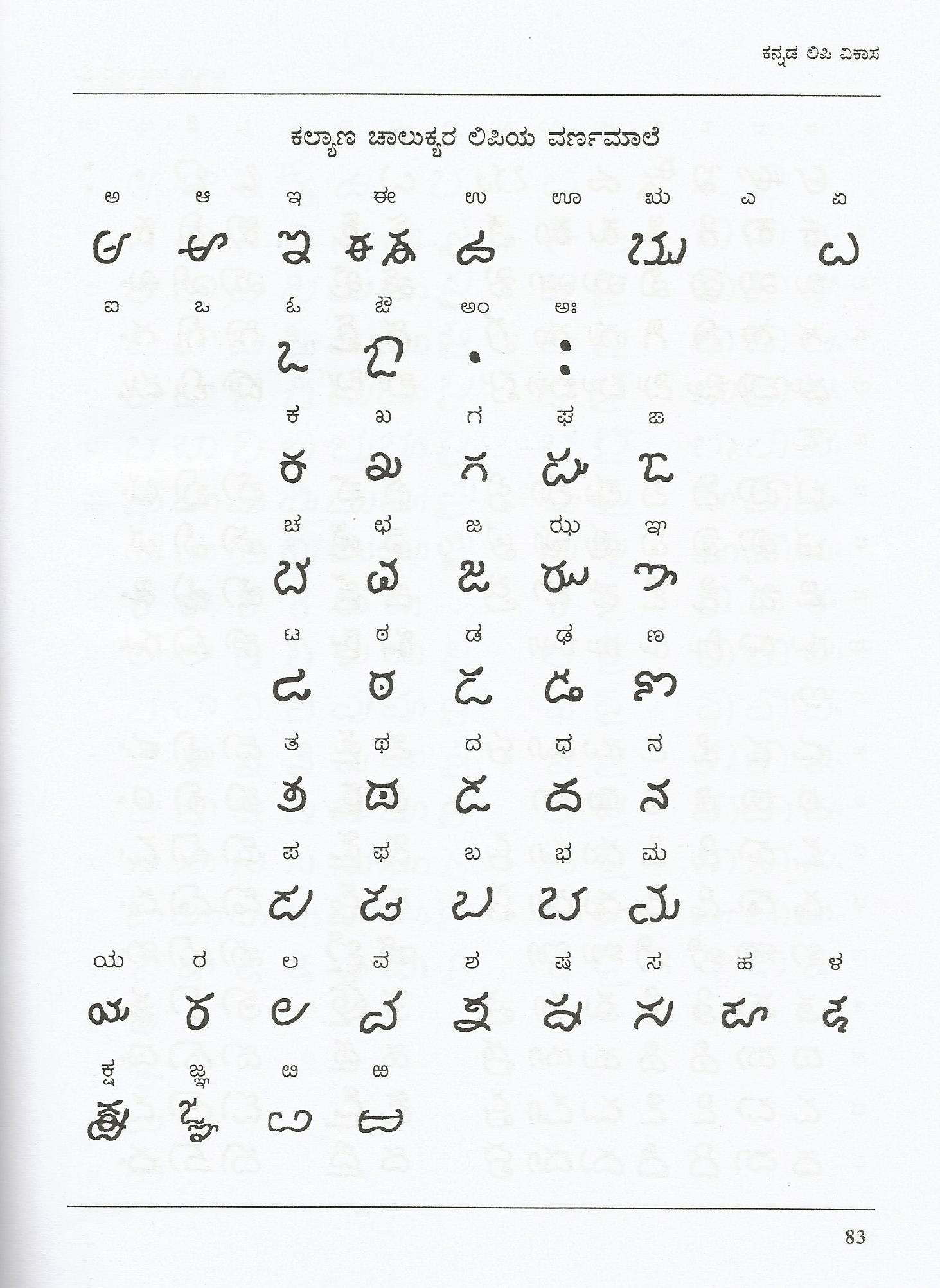 Kalyana Chalukhya Script